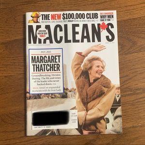 Maclean's Magazine - April 2013 -Margaret Thatcher